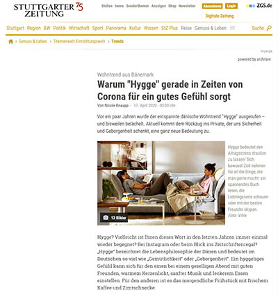 Stuttgarter Zeitung - Warum Hygge in Zeiten von Corona für ein gutes Gefühl sorgt