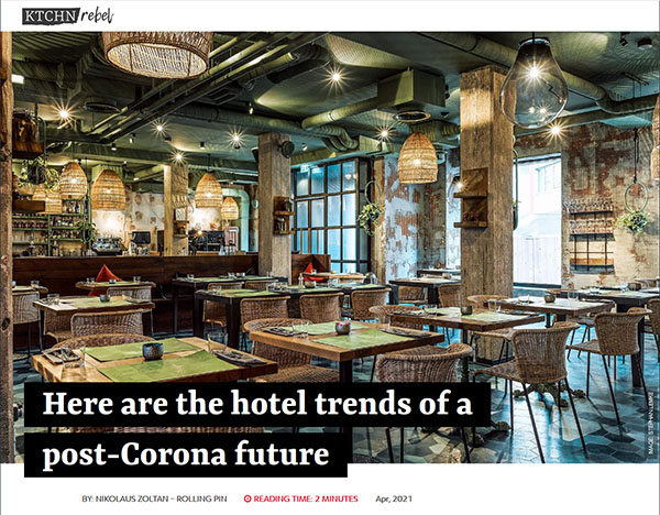 Hotel trends of a post-Corona future